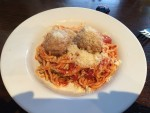 Kid-size Spaghetti and Meatballs