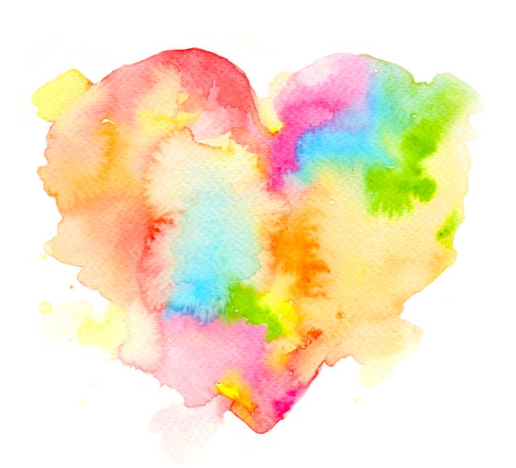 Mama's Heart original watercolour by artist Amy Wetton of Wild Canary Studios.