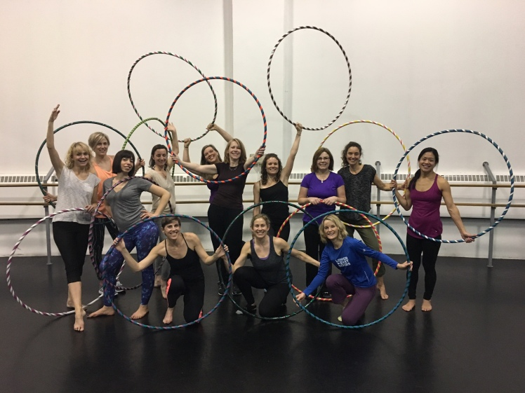 Moms in Toronto Hula Hooping with HooperSonic